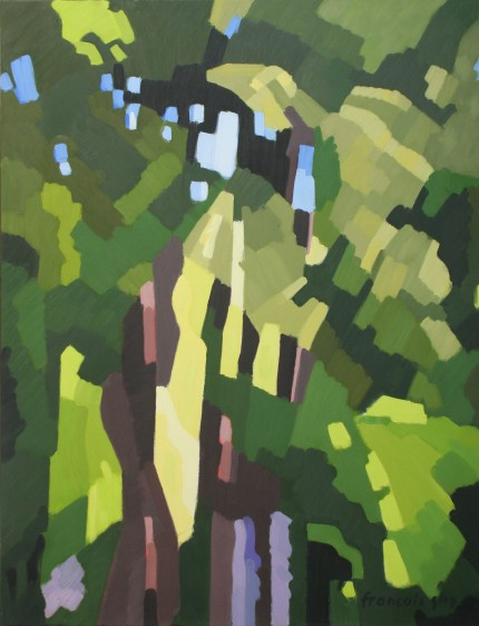 Dans le sous-bois - septembre 2016  huile sur toile 116x89