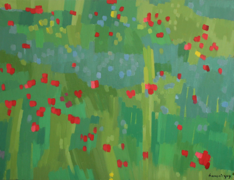 11. Herbes folles - septembre 2017 - huile sur toile 89x116