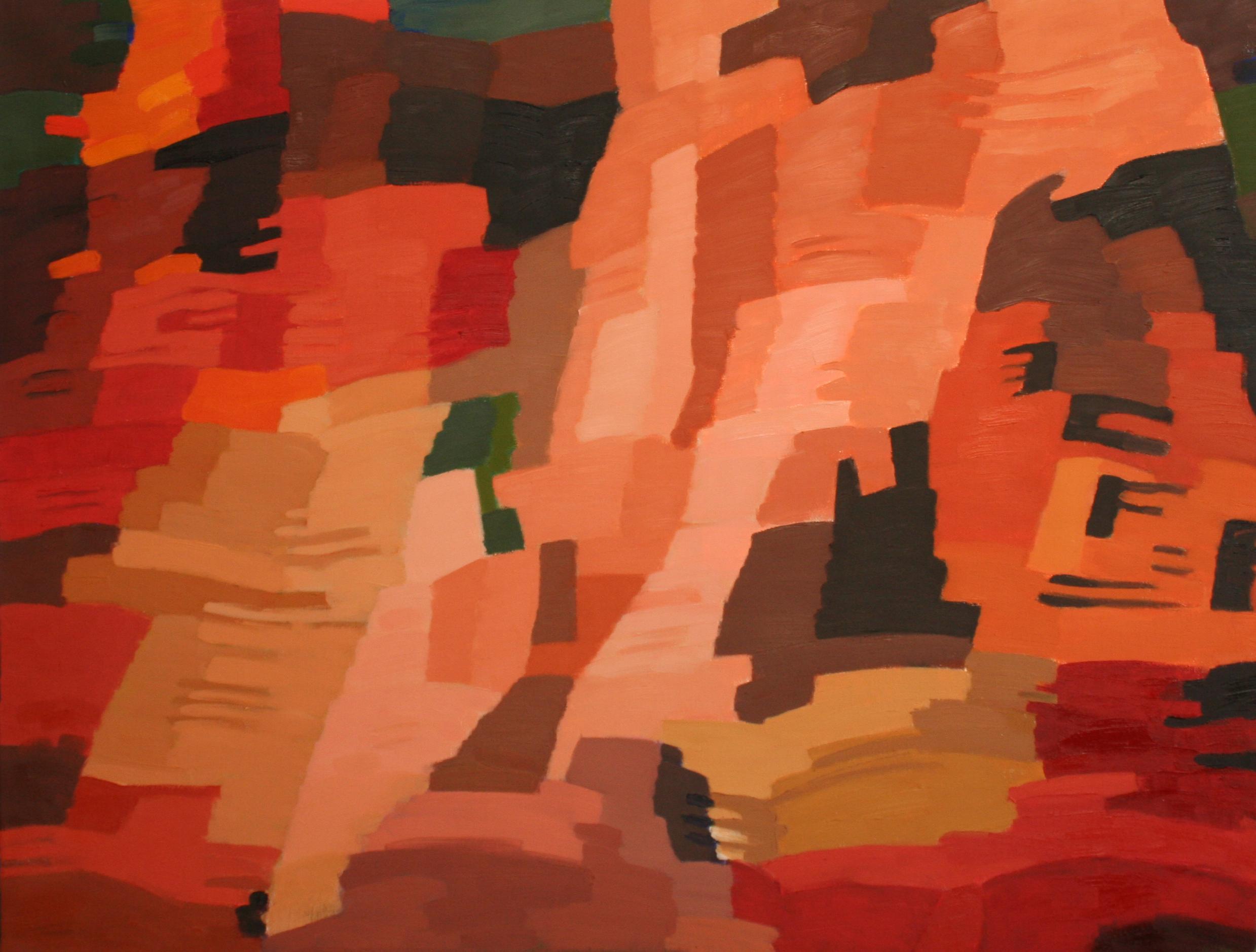 15. Roussillon - janvier 2019 - huile sur toile 89x116