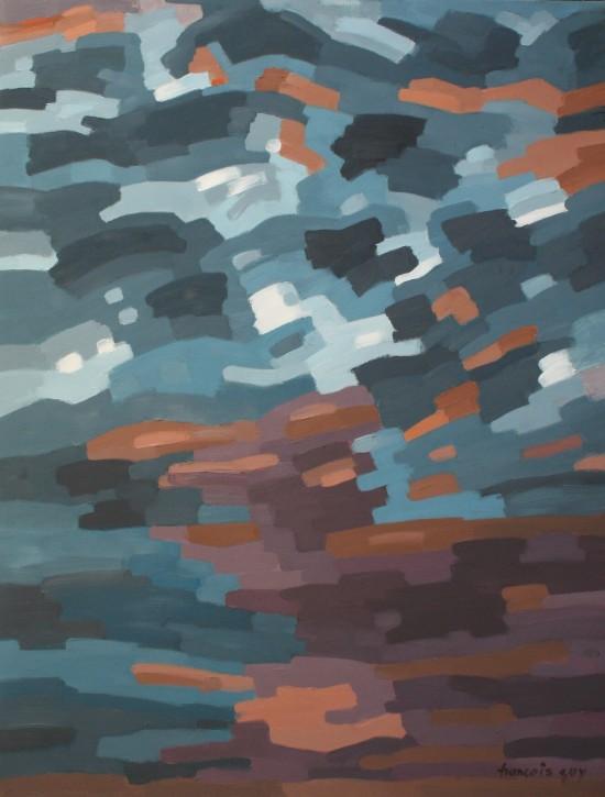 25. L'aube - janvier 2019 - huile du toile 116x89