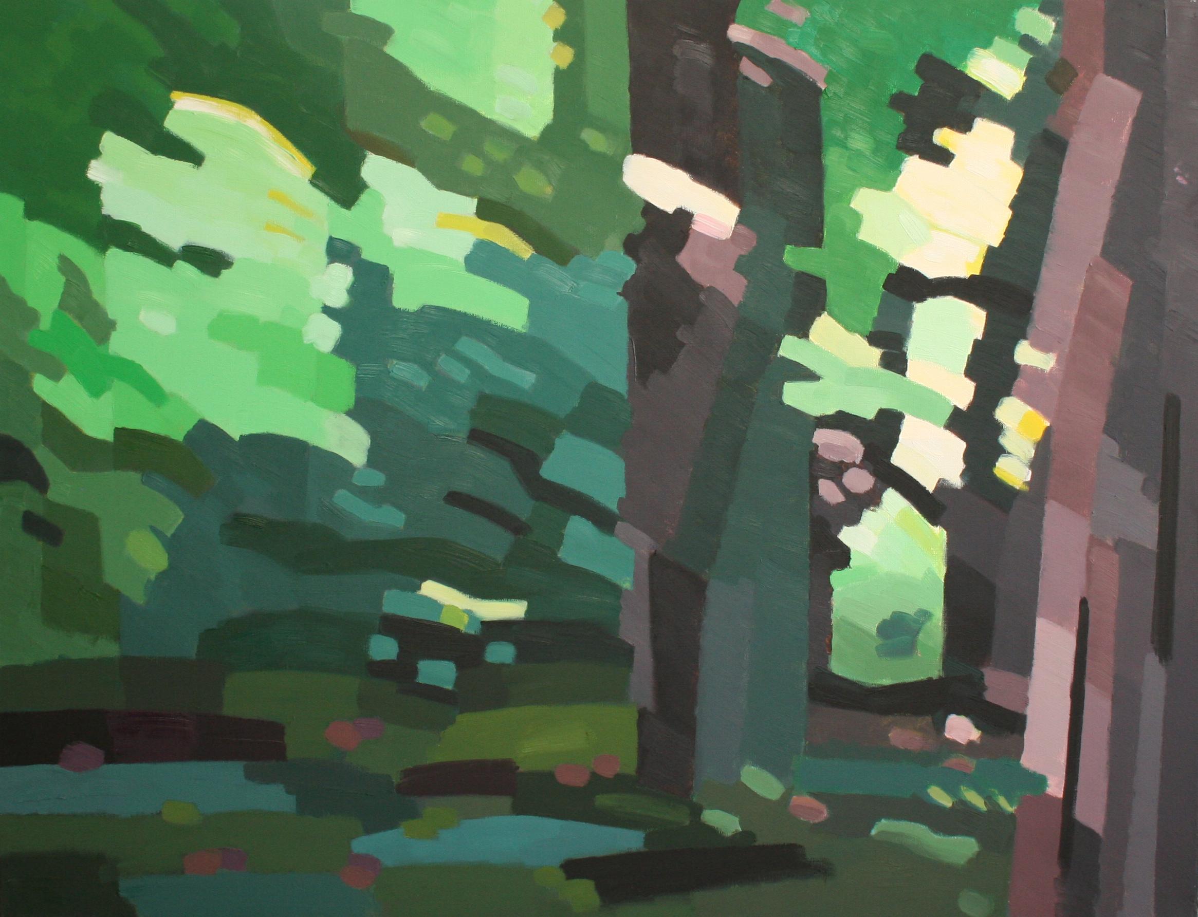 9. Les arbres du parc - juin 2018 - huile sur toile 89x116